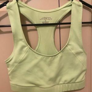 Lime green sports bra